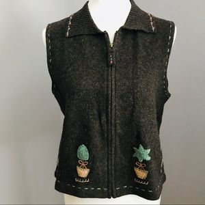 Woolrich Lambs Wool embroidered vest